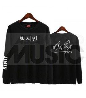 BTS - Sweat BTS AUTOGRAPHED - JIMIN (Black / Coupe unisexe)