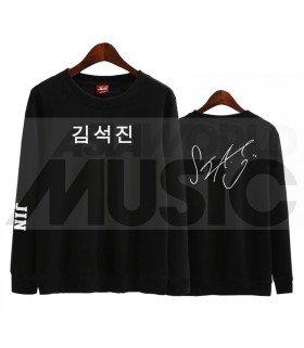 BTS - Sweat BTS AUTOGRAPHED - JIN (Black / Coupe unisexe)