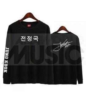 BTS - Sweat BTS AUTOGRAPHED - JUNGKOOK (Black / Coupe unisexe)