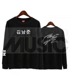 BTS - Sweat BTS AUTOGRAPHED - RM (Black / Coupe unisexe)