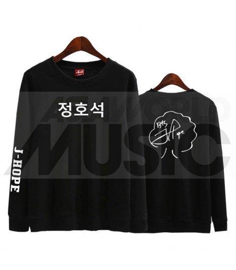 BTS - Sweat BTS AUTOGRAPHED - J-HOPE (Black / Coupe unisexe)