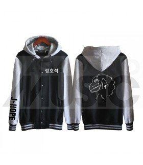BTS - Blouson Teddy avec capuche - BTS AUTOGRAPHED J-HOPE (Black / Grey)