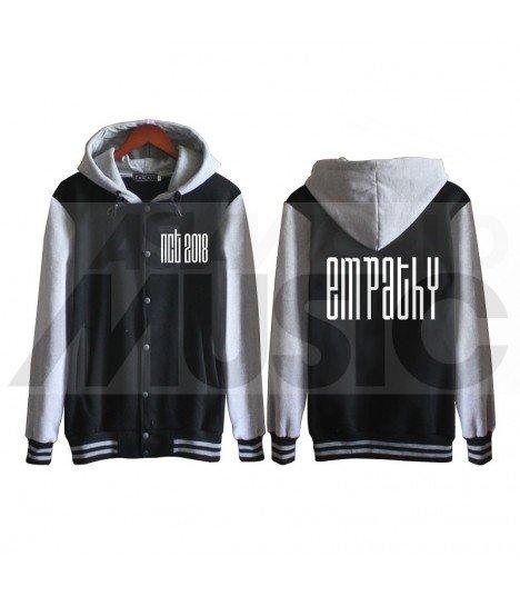 NCT - Blouson Teddy avec capuche - NCT2018 'EMPATHY' (Black / Grey)
