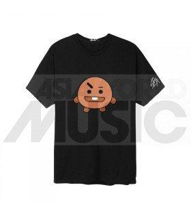 BTS - T-Shirt BT21- SHOOKY (Black / Coupe unisexe)