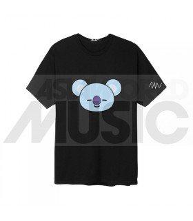 BTS - T-Shirt BT21- KOYA (Black / Coupe unisexe)
