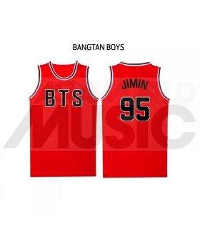 BTS - Maillot de basketball BANGTAN - JIMIN 95 (RED)