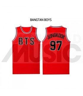 BTS - Maillot de basketball BANGTAN - JUNGKOOK 97 (RED)