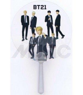 BTS - Éventail PVC - BTS Black Suit 02