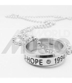BTS - Collier Bague J-HOPE 1994.02.18 (Double collier)