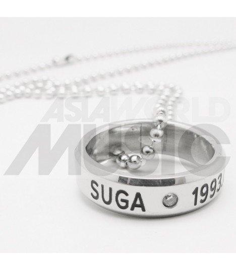 BTS - Collier Bague SUGA 1993.03.09 (Double collier)
