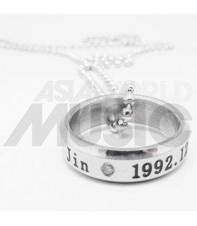 BTS - Collier Bague JIN 1992.12.04 (Double collier)
