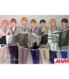 Affiche officielle BTS - LOVE YOURSELF -ANSWER- (Version L)