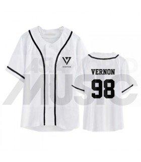 SEVENTEEN - Maillot de baseball - VERNON 98 (WHITE)