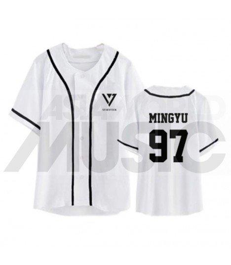 SEVENTEEN - Maillot de baseball - MINGYU 97 (WHITE)