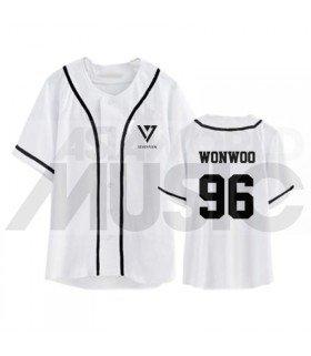 SEVENTEEN - Maillot de baseball - WONWOO 96 (WHITE)