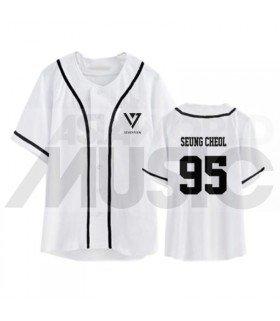 SEVENTEEN - Maillot de baseball - SEUNGCHEOL 95 (WHITE)