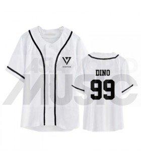 SEVENTEEN - Maillot de baseball - DINO 99 (WHITE)