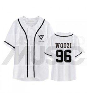 SEVENTEEN - Maillot de baseball - WOOZI 96 (WHITE)