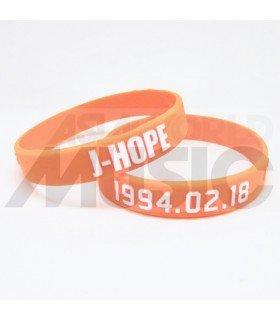 BTS - Bracelet Fashion 3D - J-HOPE 1994.02.18 (PURPLE / WHITE)