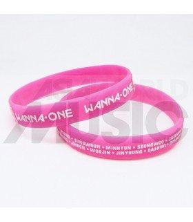 WANNA ONE - Bracelet Fashion 3D - WANNA ONE & MEMBERS (PINK / WHITE)