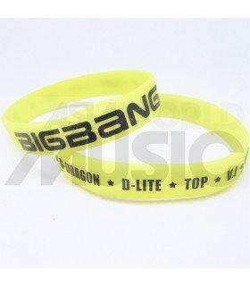 BIGBANG - Bracelet Fashion 3D - BAND & MEMBERS (YELLOW)
