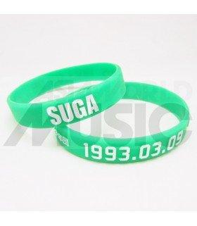 BTS - Bracelet Fashion 3D - SUGA 1993.03.09 (LIGHT GREEN / WHITE)