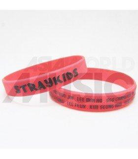 iKON - Bracelet Fashion 3D - iKON + MEMBERS (BLACK/ RED)