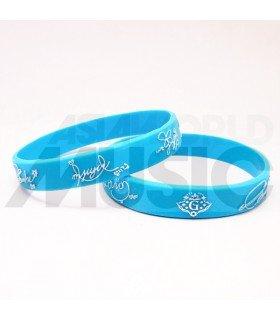 GFRIEND - Bracelet Fashion 3D - SIGNATURE (BLUE/ WHITE)