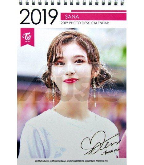 SANA (TWICE) - Calendrier de bureau 2019 / 2020 (Type A)