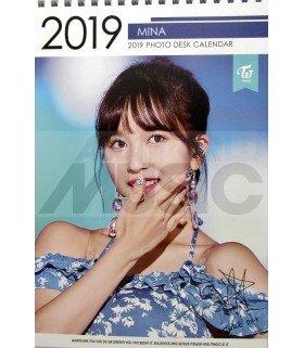 MINA (TWICE) - Calendrier de bureau 2019 / 2020 (Type A)
