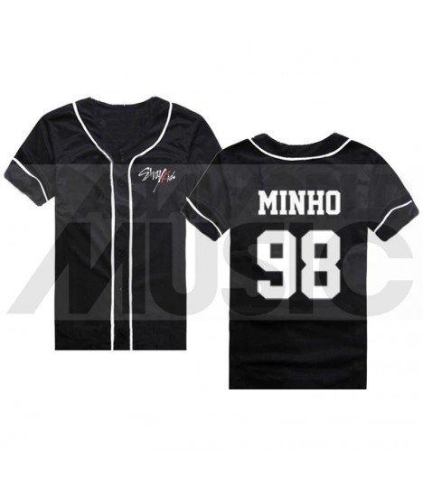 Stray Kids - Maillot de baseball - MINHO 98 (BLACK)