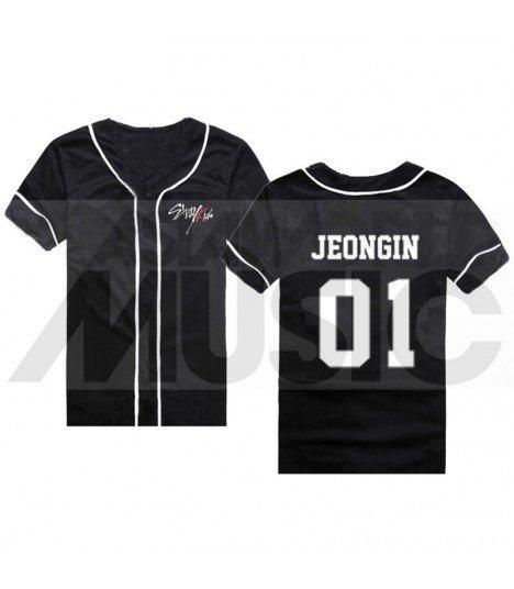 Stray Kids - Maillot de baseball - JEONGIN 01 (BLACK)