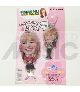 LISA (BLACKPINK) - Standing Doll & Porte-clé (TYPE B)