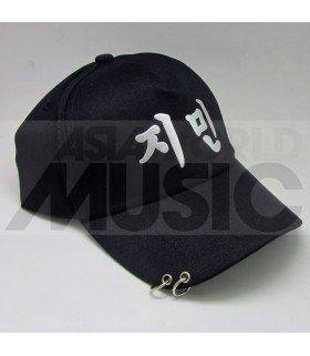 BTS - Casquette noire avec anneaux - JI MIN (JIMIN)