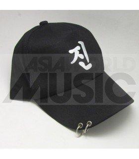 BTS - Casquette noire avec anneaux - 진 (JIN)