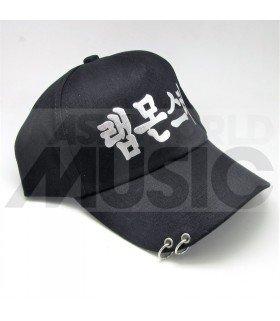 BTS - Casquette noire avec anneaux - 랩몬스터 (RAP MONSTER)