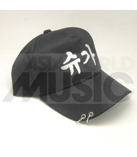 BTS - Casquette noire avec anneaux - 슈가 (SUGA)