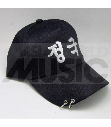 BTS - Casquette noire avec anneaux - 정국 (JUNGKOOK)