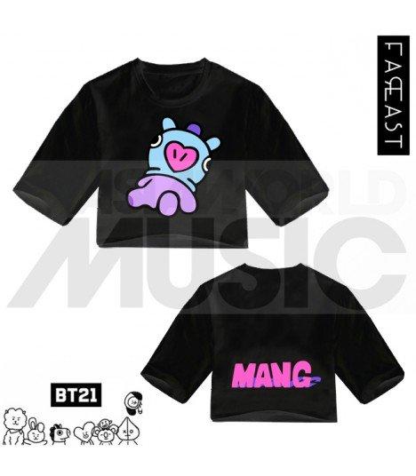 BTS - Crop top BT21 - MANG (Black) (FAREAST)
