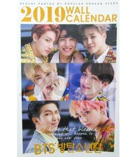 BTS - Calendrier Mural 2019 K-STAR (Type B)