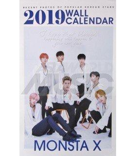 MONSTA X - Calendrier Mural 2019 K-STAR (Type B)
