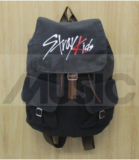 28d2248730 STRAY KIDS- Sac à Dos LOGO (Black) - Asiaworldmusic.fr - Site de ...