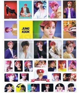 BTS - Set de stickers JUNGKOOK 019