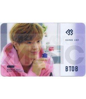 BTOB - Carte transparente SUNGJAE (2018 SEASON'S GREETING / TYPE B)