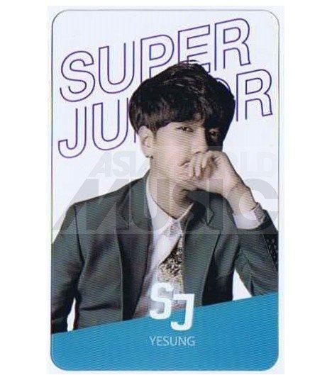 SUPER JUNIOR - Carte transparente YESUNG (2015 SEASON'S GREETING)