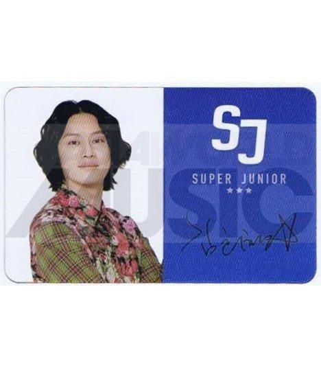 SUPER JUNIOR - Carte transparente HEECHUL (ID / AUTOGRAPHED)