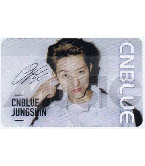 CNBLUE - Carte transparente JUNGSHIN (7°CN / AUTOGRAPHED)