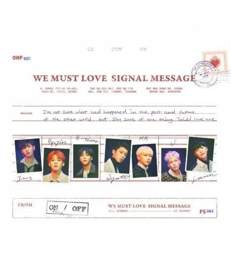 ONF (온앤오프) Mini Album Vol. 3 - WE MUST LOVE (édition coréenne) (Poster offert*)