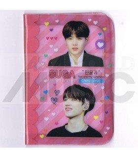 Porte carte Suga (BTS) + 18 cards