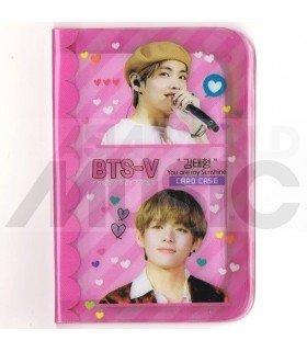 Porte carte V (BTS) + 18 cards